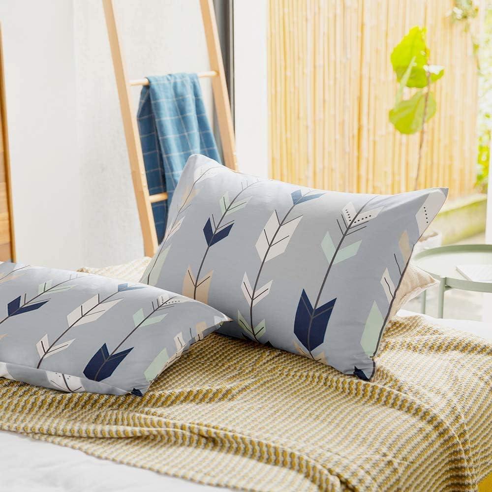 No Pillow 20/×26, white1 2 Piece Breathable Anti-Wrinkle Pillowslip for Boys Girls EnjoyBridal Dinosaur Kids Pillowcases 100/% Cotton Pillow Covers for All Seasons