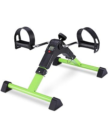 FITODO Pedales Estaticos Ejercicio de Mini Bicicleta con Monitor LCD para Pierna y el Brazo de