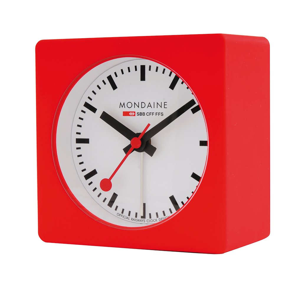 Mondaine A996ALIG30SBB Cube Alarm Clock Analogue Alarm Clock Amazon