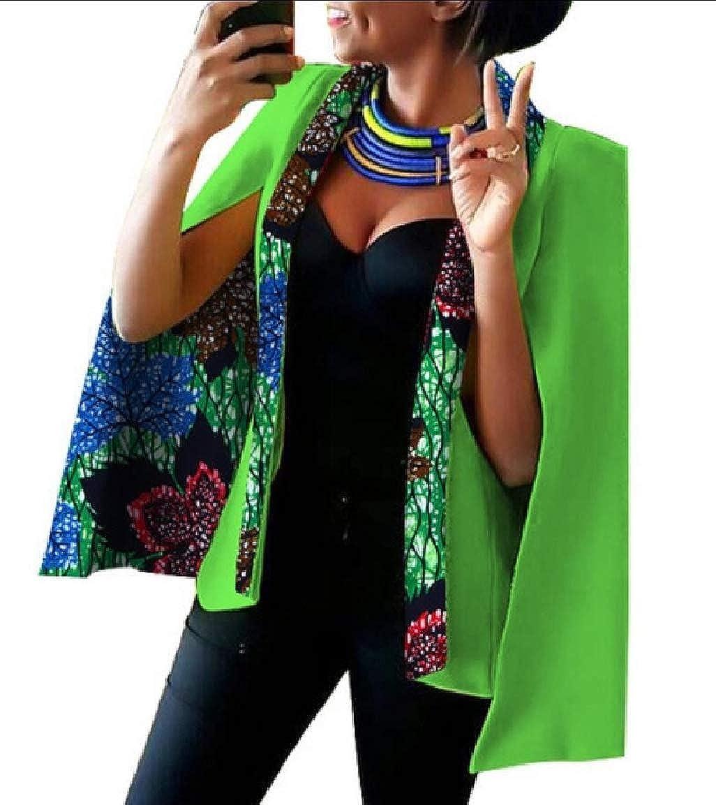 16 Keaac Womens African Dashiki Floral Print Cape Jacket Coat Blazer