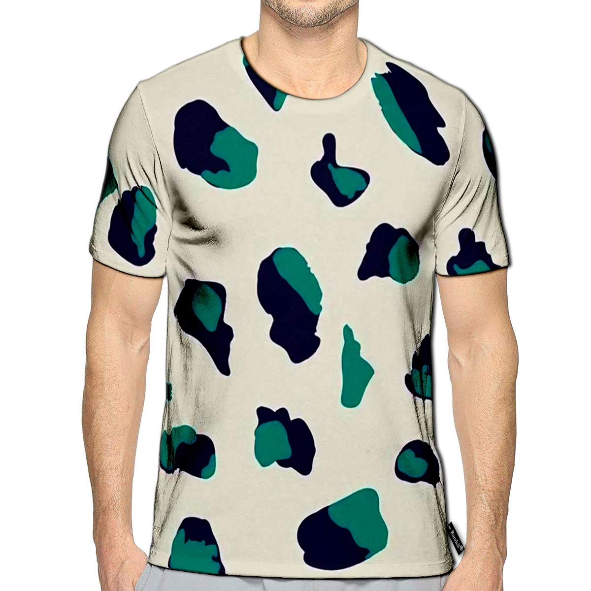 3D Printed T-Shirts Design with Abstract Animal Print Style Shapes Creative Repe