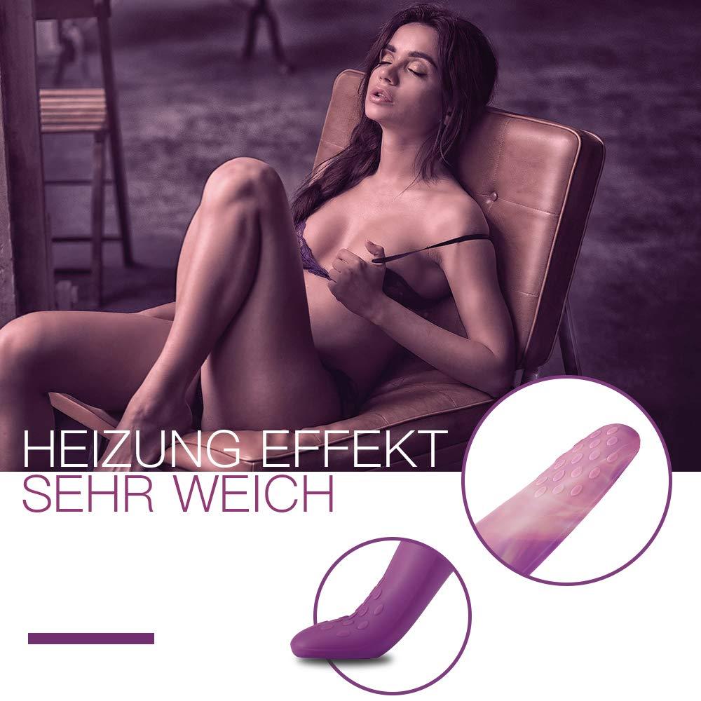 Fondlove G Punkt Vibratoren für Sie Finger Vibrator Klitoris und G-punkt Stimulation mit Heizung 5 Finger Modi 10 Vibratormodi Sexspielzeug Wasserdichte für Frauen und Paare