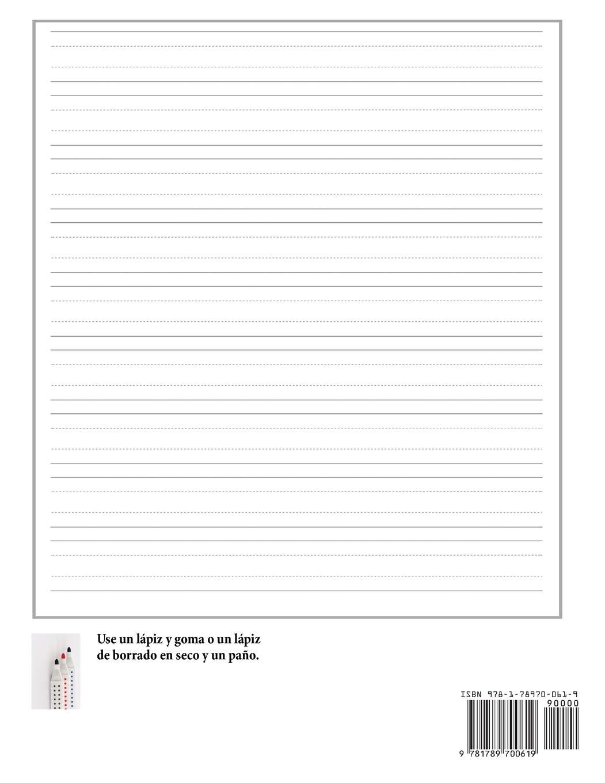 Hojas Para Práctica de Escritura Para Niños de 3 a 5 Años: 100 Páginas de Práctica de Escritura Para Niños de 3 a 6 Años: Este Libro Tiene Papel .
