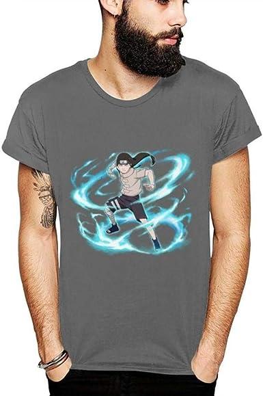 TSHIMEN Camisetas Hombre Naruto Verano 2019 para Hombre Camiseta Nueva Camiseta con Estampado gráfico de Dibujos Animados para Hombres Camiseta de algodón Gris Oscuro: Amazon.es: Ropa y accesorios