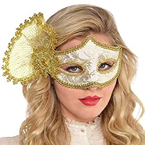 Amscan Gold Parisian Mask Costume Accessories