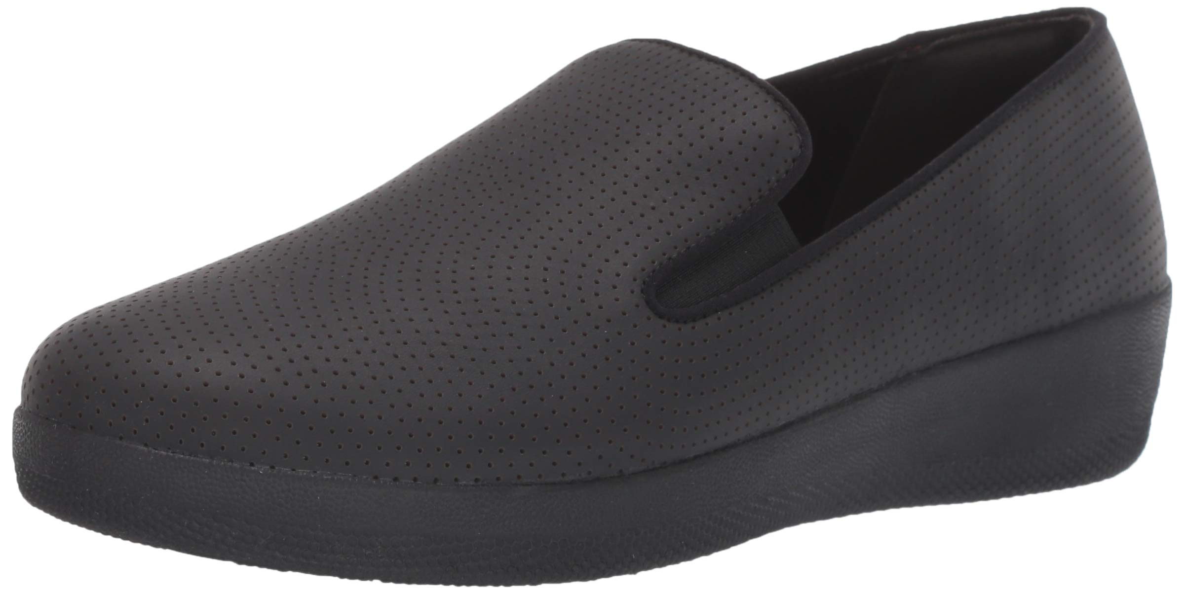 FITFLOP Women's Superskate Perforated Skate Shoe Black 7.5 M US by FITFLOP