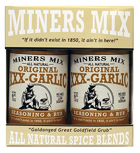- Miners Mix XXX Garlic All Natural Low Salt No MSG 2 pk