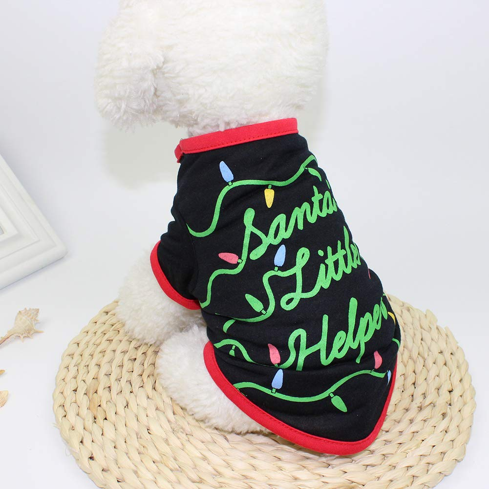Christmas Pet Outfit Dog Vest Cute Costume Apparel Xmas Warm Clothes L
