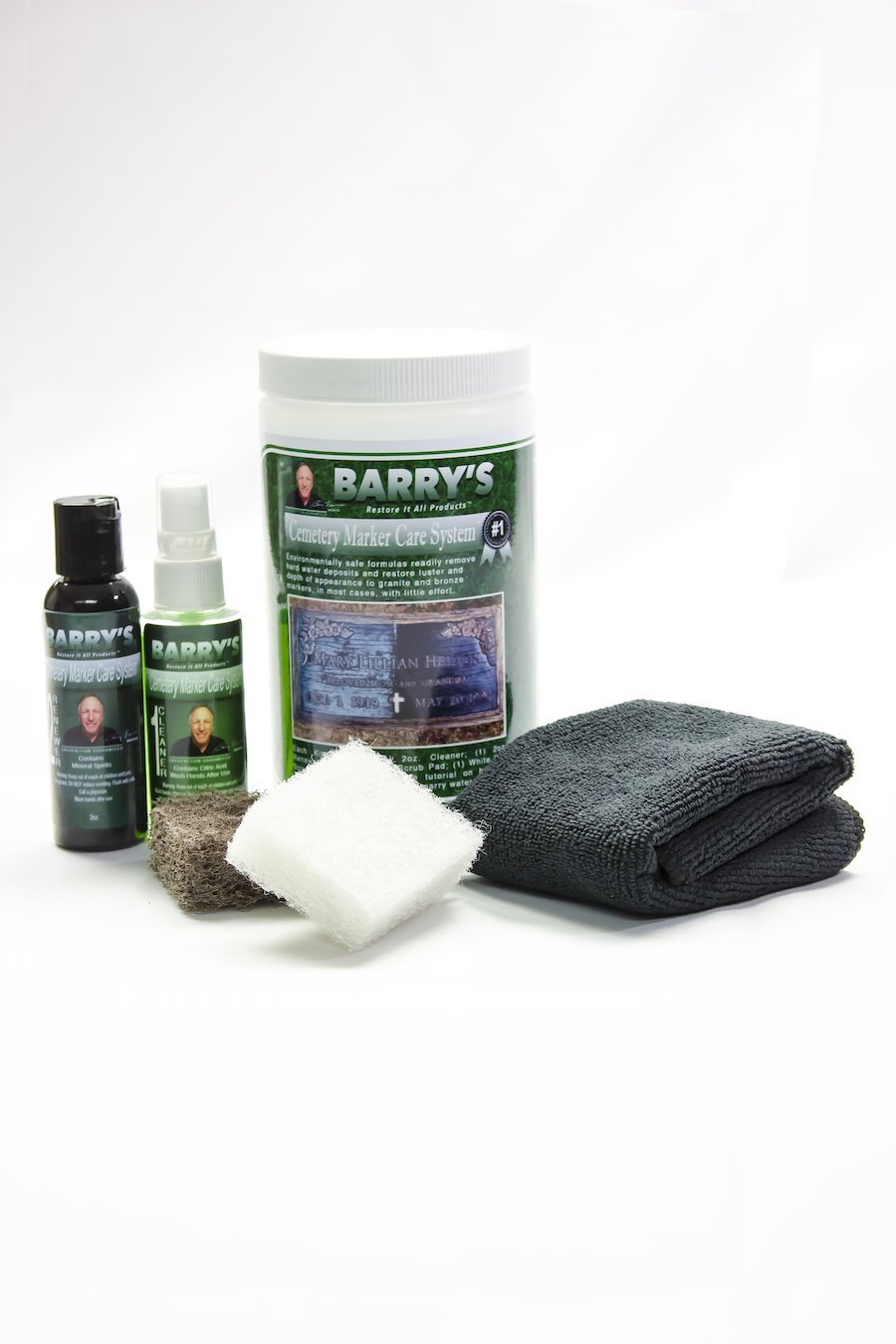 Barry's Restore It All Products - Cemetery Marker Care System