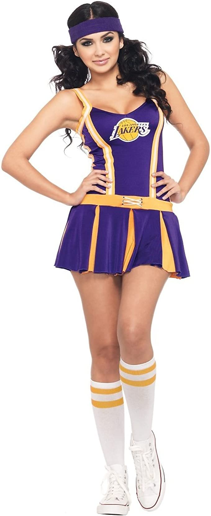 Girls Cheerleader Costume School Girl NBA Basketball Player Fancy Dress