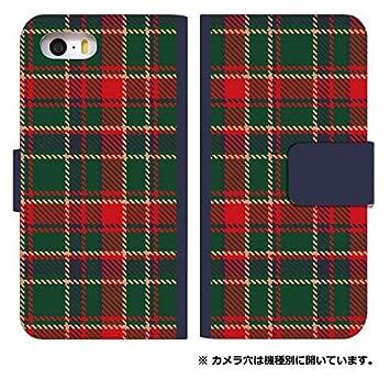 d07ed298e3 スマホケース 手帳型 iphone7 plus ケース チェック柄 デザイン 0321-C. チェックグリーンレッド