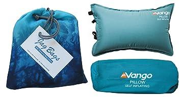 JagBags - Saco de Dormir estándar de Seda Pura y Almohada de Viaje Inflable, Turquesa