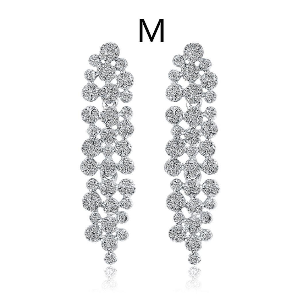Beuu New Jewelry Earrings Fashion Zircon earrings Diamond-encrusted love heart earring for girls