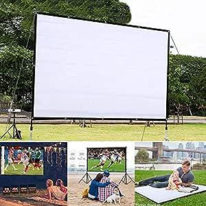 vershine HD Projector Screen,Portable Folding Anti-Crease Indoor Outdoor Projector Movies Screen for Home,Screen Size 60inch,72inch,84inch,92inch Projection Screens