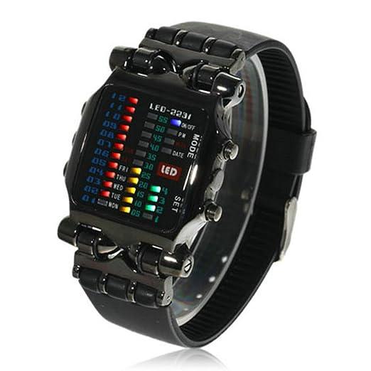 HWCOO relojes led PU con el reloj electrónico de la manera de la tabla del cangrejo de la tabla del cangrejo (Color : 1): Amazon.es: Relojes