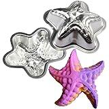 Metal Bath Bomb Mold Making Child Bath Fizzy Sea Creature Starfish 2 Sets