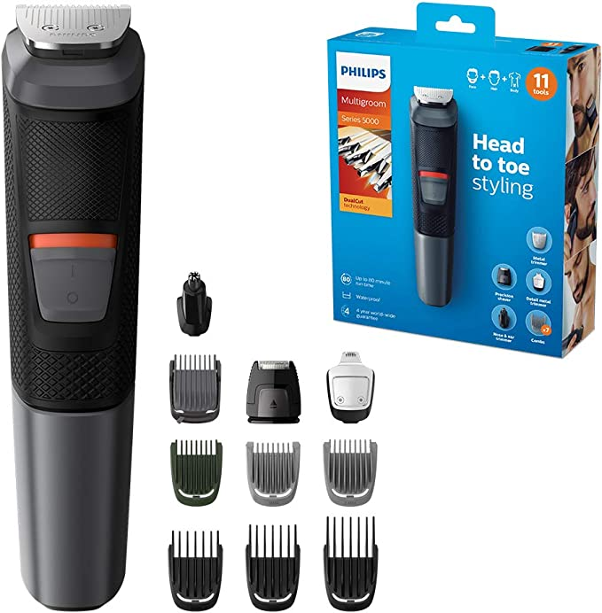 Philips Series 5000 11-in-1 Multi Grooming Kit for Beard, Hair and Body with Nose Trimmer Attachment - MG5730/33: Amazon.co.uk: Health & Personal Care