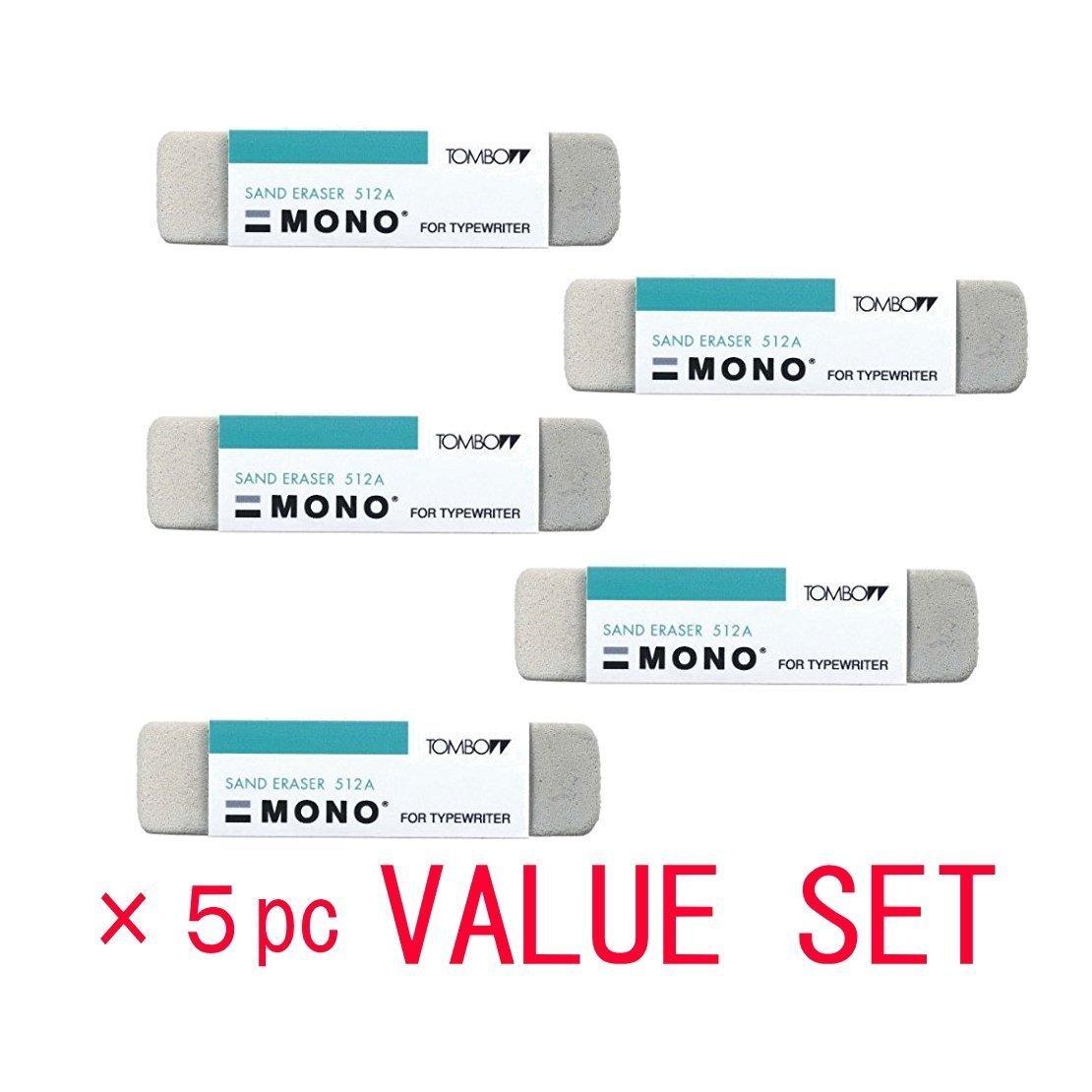 Tombow Mono arena goma de borrar 5/Pack valor Set por TOMBO es-512/a