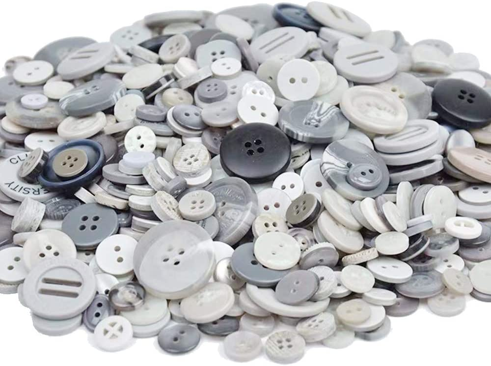 Party Decor Festival Decoration Esoca 650Pcs Light Blue Buttons for Crafts Bulk Assortment Blue Craft Buttons Art Buttons for DIY Crafts