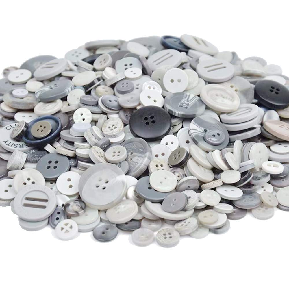DIY Crafts Christmas Decoration Esoca 650Pcs Black Buttons for Craft Buttons Mixed Sizes Art Buttons for Arts