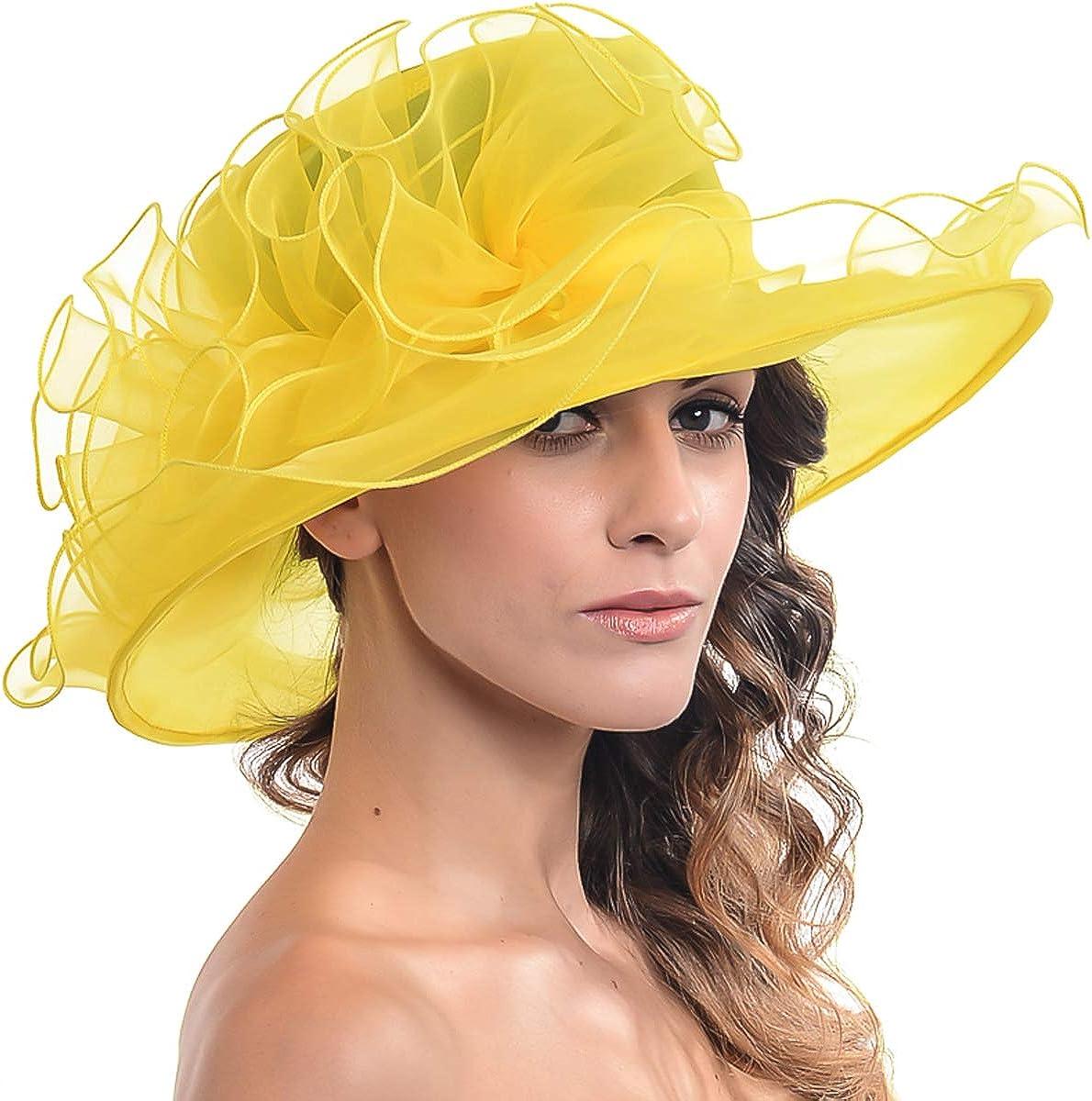 FORBUSITE Kentucky Derby Church Hats for Women Dress Wedding Hat