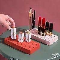 CC Organizador Maquillaje Silicon, Organizador De Lápiz Labial, Cosméticos, 18 Compartimientos Grandes y 6 Pequeños…