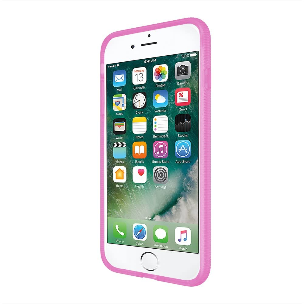 Incipio Octane iPhone 8 Plus & iPhone 7 Plus Case with Textured Bumper and Hard Shell Back for iPhone 8 Plus & iPhone 7 Plus - Frost/Pink