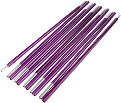 Gold 365cm Camping 11 Sections Aluminum Alloy Spare Replacement Tent Poles