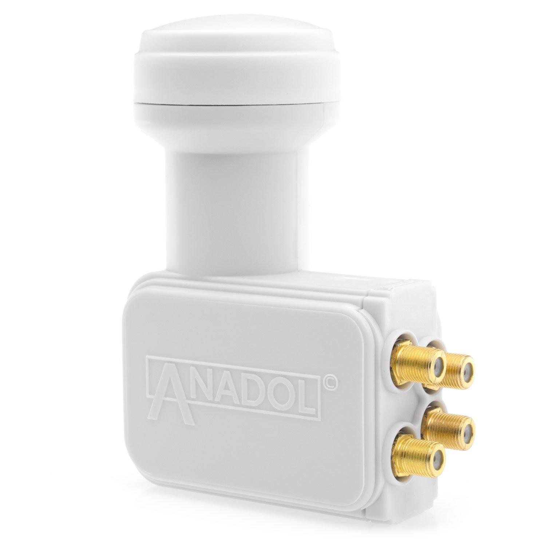 Anadol Gold Line LNB bloque convertidor de bajo nivel de ruido 0.1/dB incluye conectores F dorados