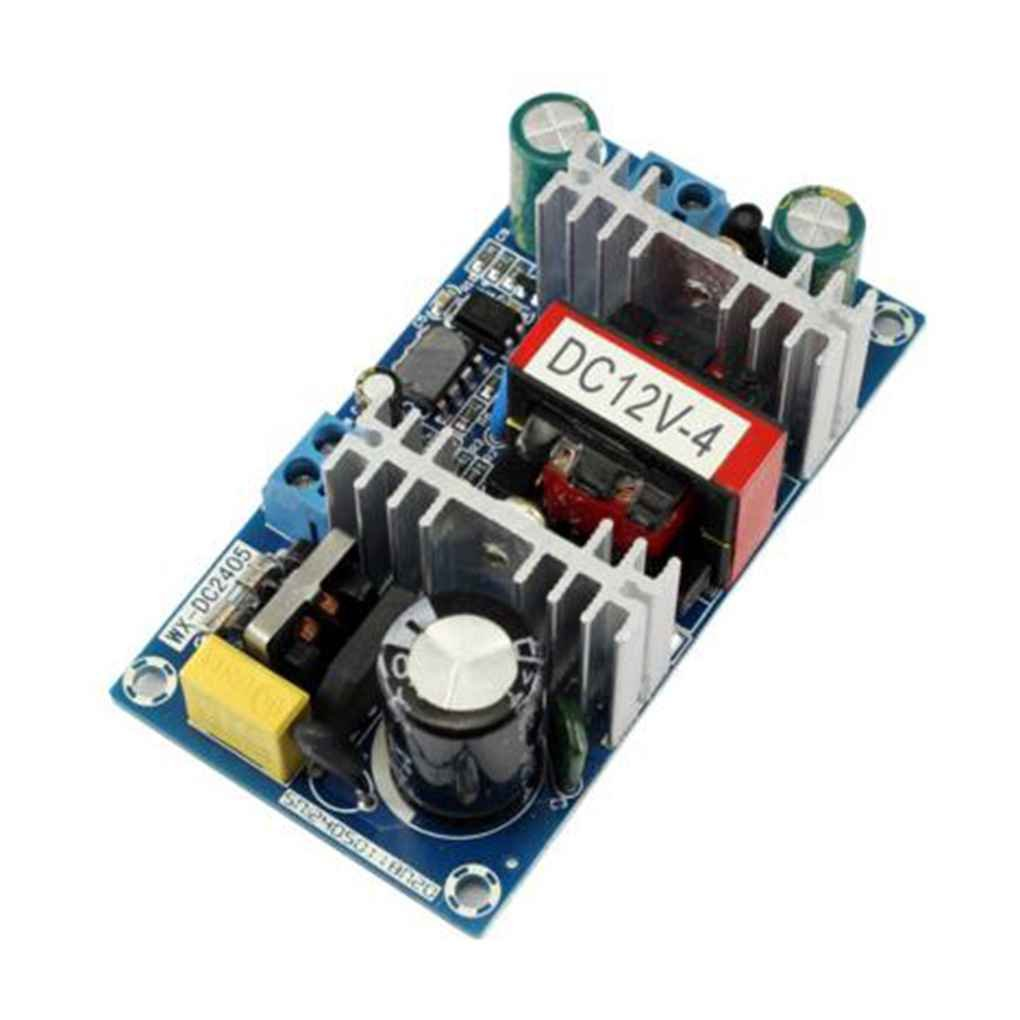 Mengonee 50W AC 100V-240V zu DC 12V 4A Schalter Stromversorgungsmodul AC-DC Low Ripple Industrie-Netzteil Bare Vorstand xgooyf33794@