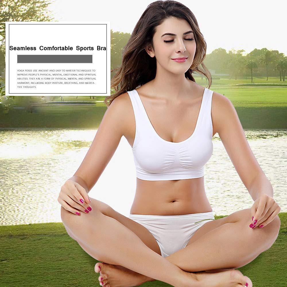 Kloius Sujetador Deportivo para Mujer Sujetador de Yoga Bralette Chaleco Sujetadores Elásticos sin Cable: Amazon.es: Ropa y accesorios