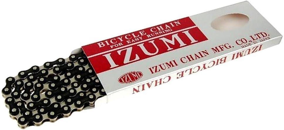 Izumi Black BMX Chain 1//2x1//8 Made in Japan