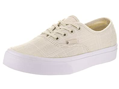 Vans Unisex Authentic (Hemp Linen) Turtledove/T Skate Shoe 5 Men US/