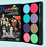 MEHRON Paradise 8-Color Palette, Face/Body Painting Kit, Water Activated (Pastel)