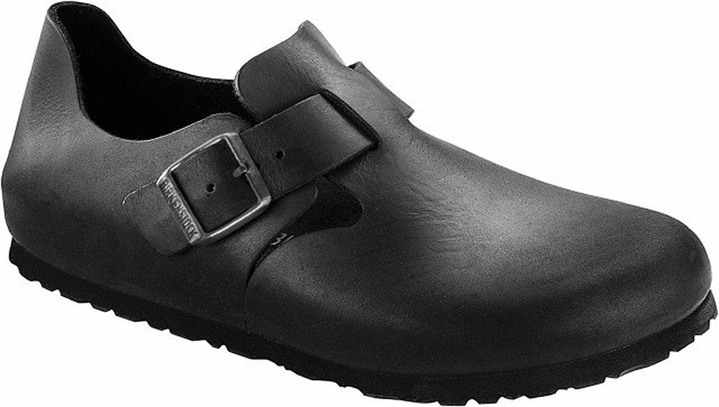 Birkenstock London, Black Oiled Leather 1 42 (US Men's 9-9.5, US Women's 11-11.5) Narrow