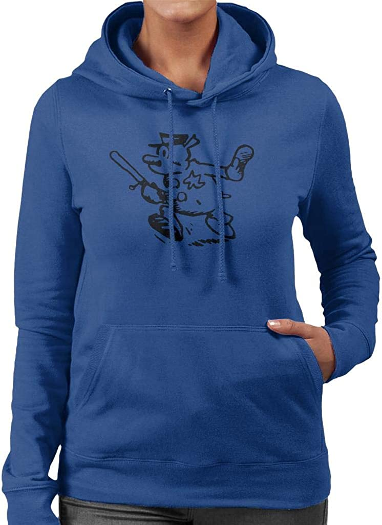 Krazy Kat Officer Bull Pupp Baton Womens Hooded Sweatshirt