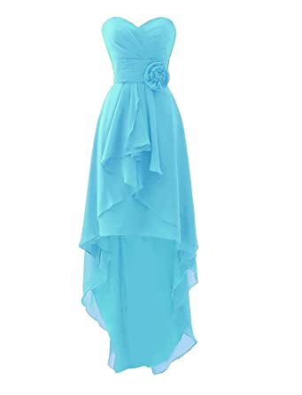 9ee4a7d1f46 Erosebridal Short Bridesmaid Dresses Wedding Party Dresses Chiffon Light  Blue US2