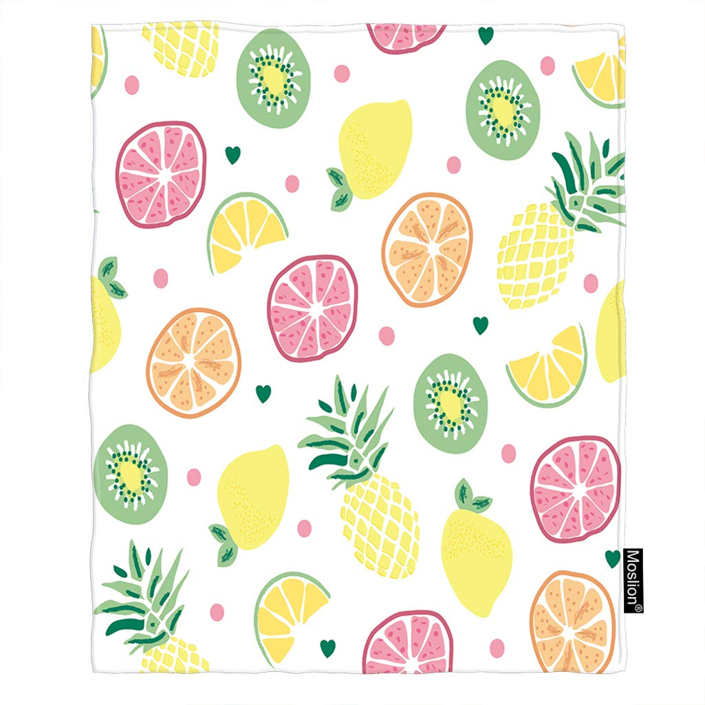 Amazon.com: Moslion - Manta de fruta, para verano, piña ...