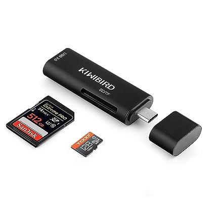 KiWiBiRD Tipo C SD/Micro SD/TF Lector de Tarjetas, Adaptador USB-C ...