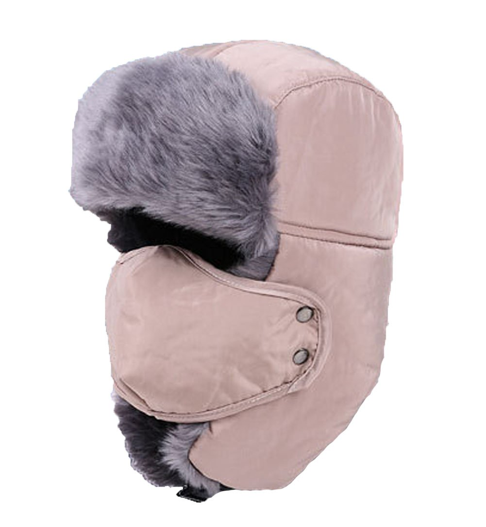 Holyhigh Unisex Winter Outdoor Trapper Trooper Aviator Ski Hat Earflap With Mask