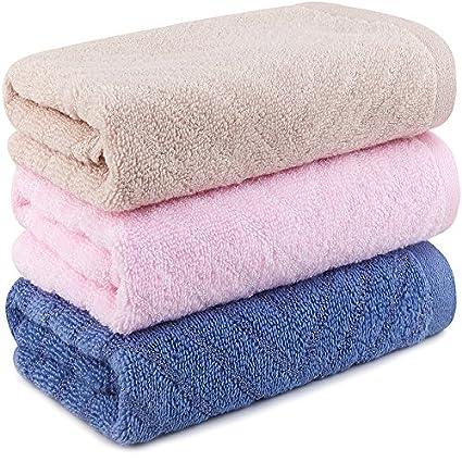 Mano towel-cotton y toalla de bambú mezcla de sarga (33 x 74 cm