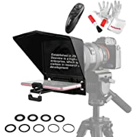 Desview T2 Portable Teleprompter Kit with Lens Adapter Ring, Remote Controller, for Smartphone/Tablet/DSLR Camera Video…