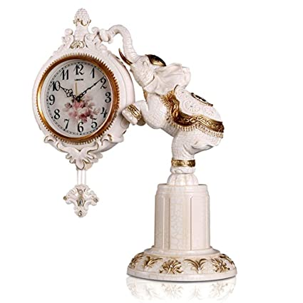 Family Fireplace Clocks Desktop Watch Tablecloth Clocks Living Room Retro Resin Watch Mute Clock Bedside Clock