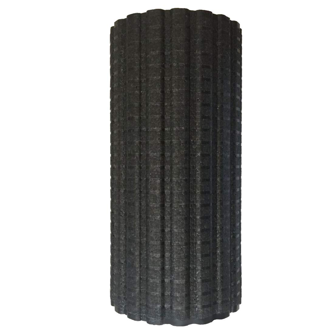 UICICI Vibrierende elektrische Yoga-Säule, Verstellbarer Vollschaum-Schaft, Tiefe Massage-Yoga-Säule, schwarz