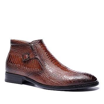 Oxford popoti Brogue Zapatos Hombre Textura Cuero Encaje rIEqEwxtH