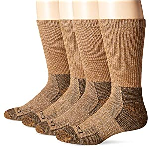 Dickies Men's Steel Toe Moisture Control Crew Socks (2 & 4 Packs)