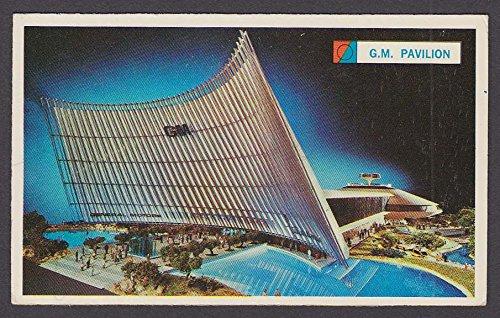 (General Motors Futurama Building 1964 New York World's Fair souvenir card)