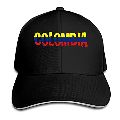 dfjdfjjgfhd Mens Womens Colombia Text Flag Baseball Hat Gorra de ...