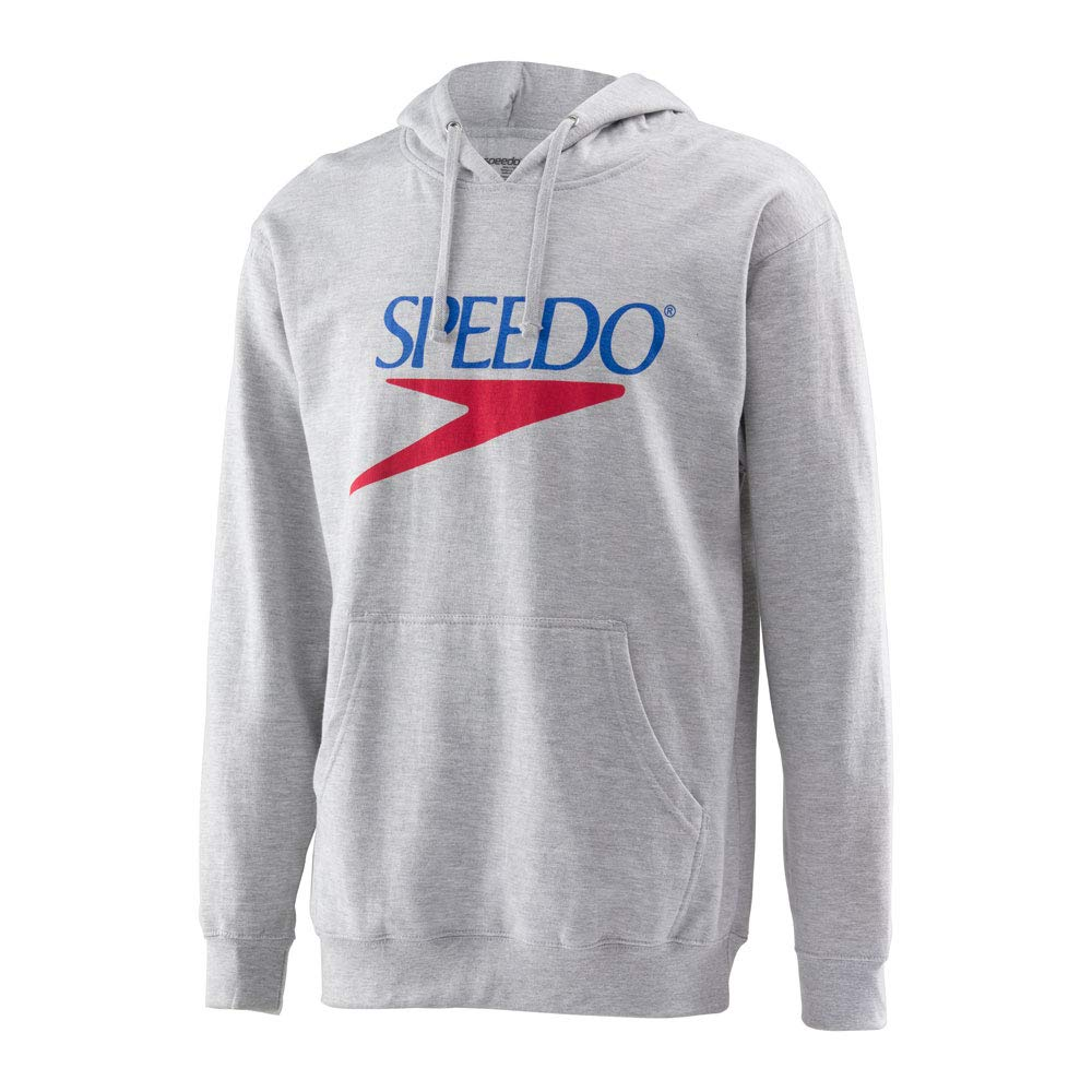Speedo Vintage Collection Logo Fleece Hoodie, GREY, Small by Speedo