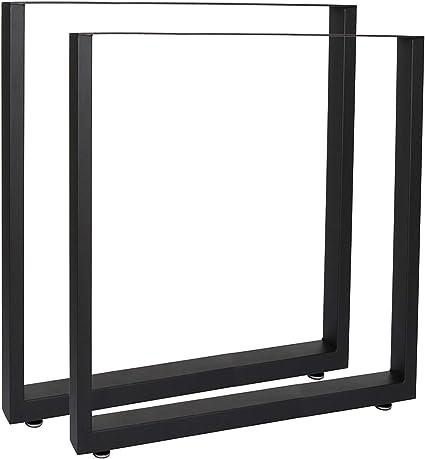 Bastidores para mesa 60x72 cm Recubrimiento polvo negro Caballetes ...